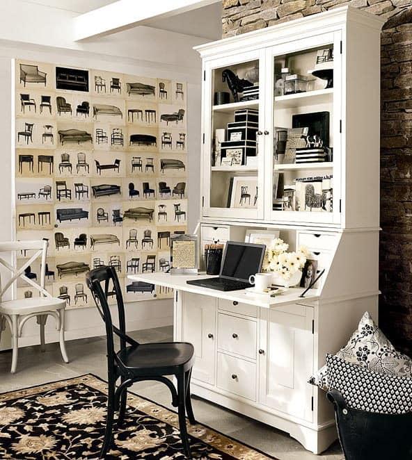 Рабочий стол-секретер для домашнего кабинета