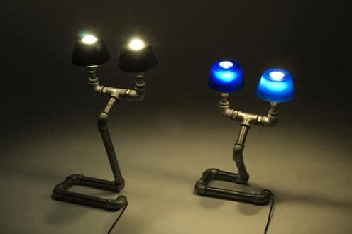 Светильники в индустриальном стиле выглядят весьма интригующе