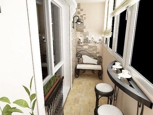 Очень практично и удобно иметь барную стойку на балконе с прекрасным видом
