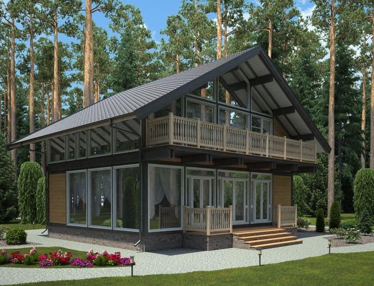 Построенный за несколько недель дом по технологии фахверк