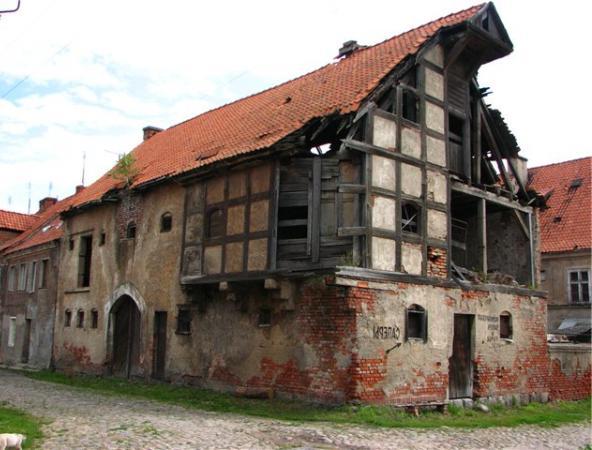 Сохранившийся до наших дней средневековый дом построенный по технологии фахверк