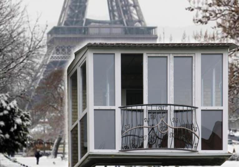 а так французский балкон представляем мы