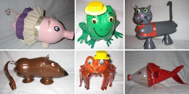 Животные из пластиковых бутылок для украшения сада, газона или дачного участка