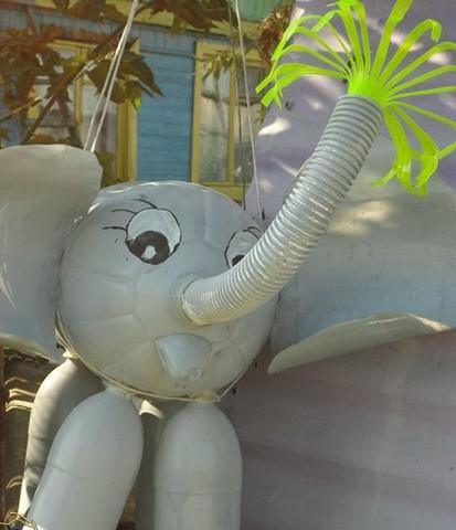 Как сделать слоника из бутылки 573