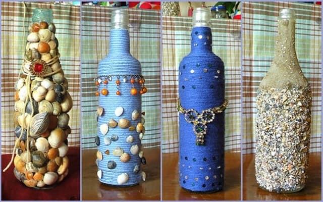 Декор бутылок своими руками в домашних
