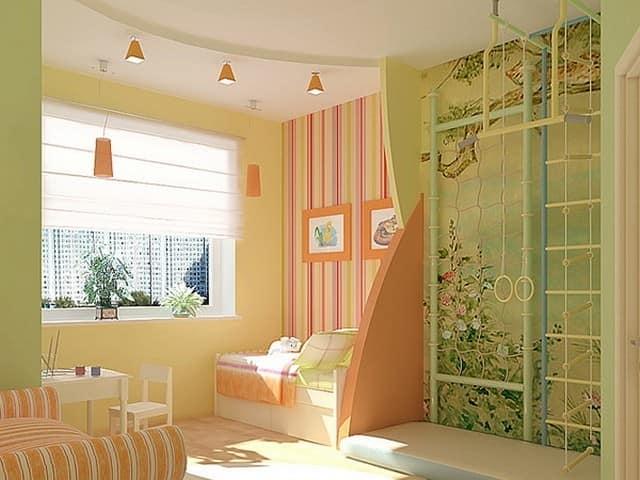 Естесственные и искусственные источники освещения в детской комнате