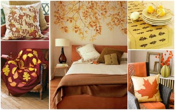 Текстиль для создания осеннего интерьера фото