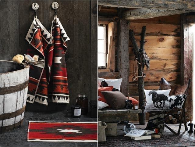 Текстиль в осеннем интерьере прихожей фото