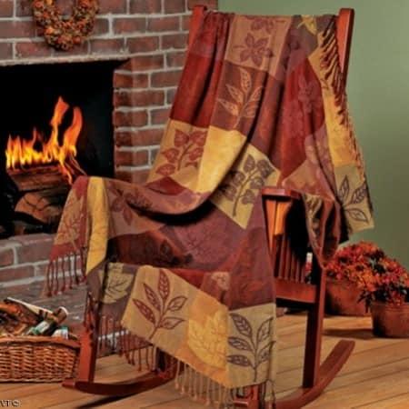 Осенние узоры и принты: текстиль для украшения дома к осени