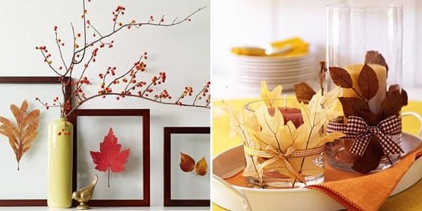 Осенние интерьеры - украшаем дарами природы