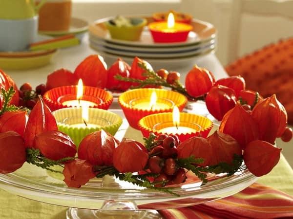 Яркий физалис украсить любой стол