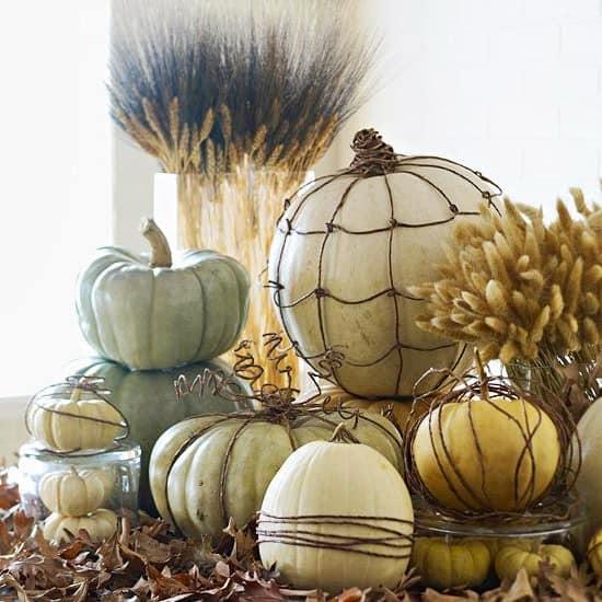 Декорируем стол осенью колосками пшеницы