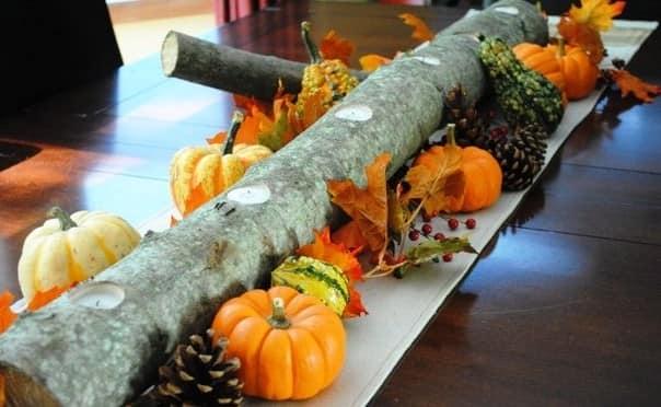 Шишки и другие дары природы для декора стола