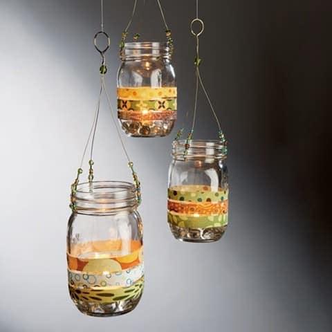 Креативные подсвечники из стеклянных банок