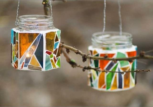 Роспись банок разноцветными красками поможет создать неповторимый дизайн и стиль
