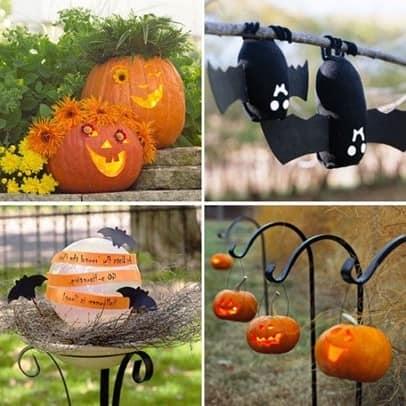 Идеи для украшения сада к Хэллоуину