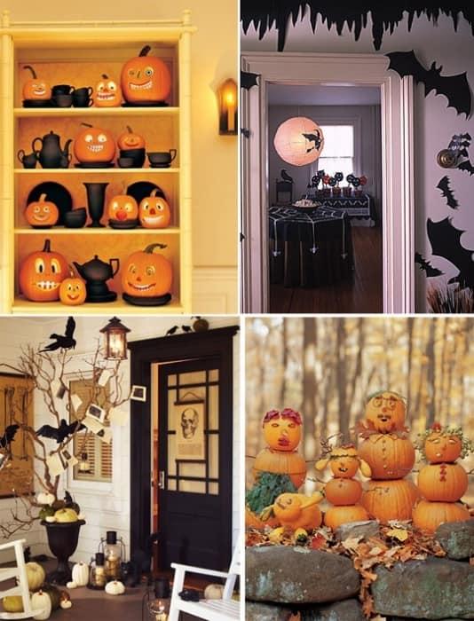 Как украсить гостиную к Хэллоуину