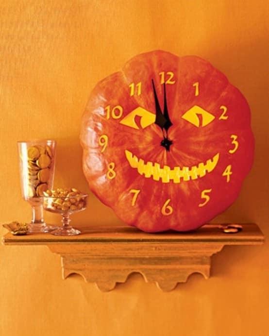 Полуночные часы из тыквы