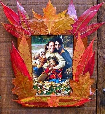 Как сделать фоторамку из кленовых листьев
