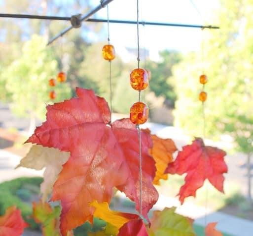Гирлянда из кленовых листьев своими руками