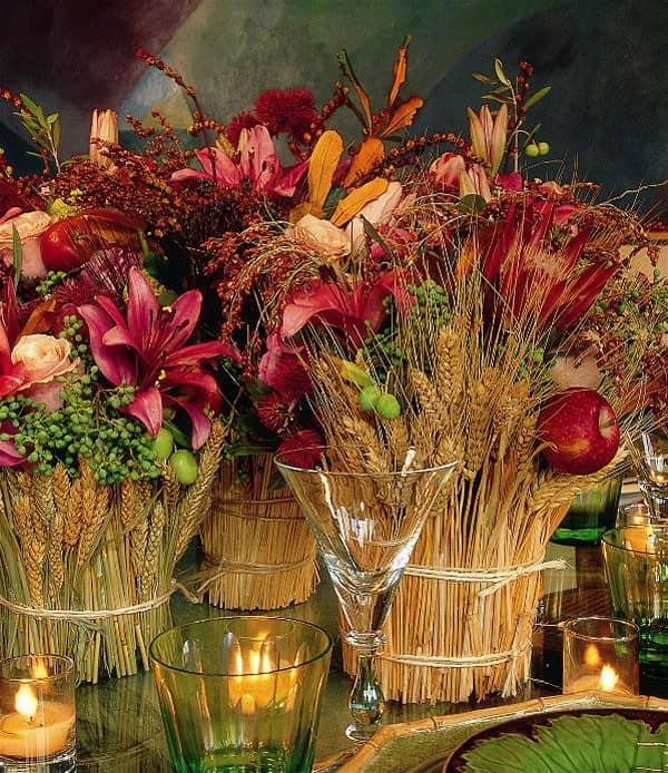 Колосья пшеницы для осеннего украшения дачи