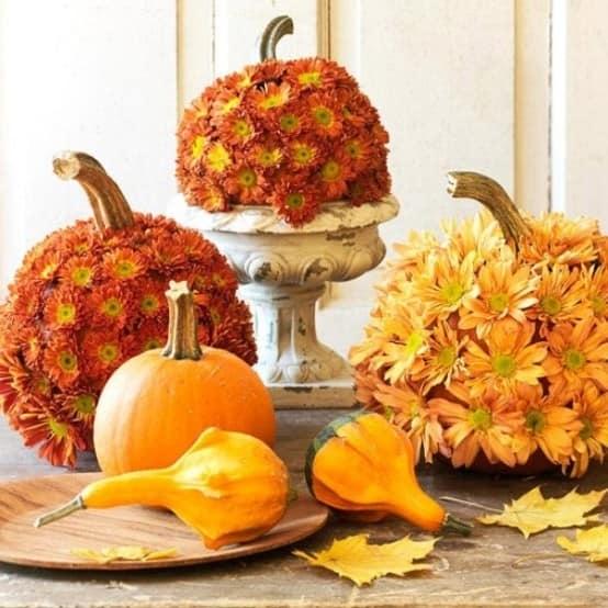 Осенние цветы и тыквы: украшаем дачу и дом