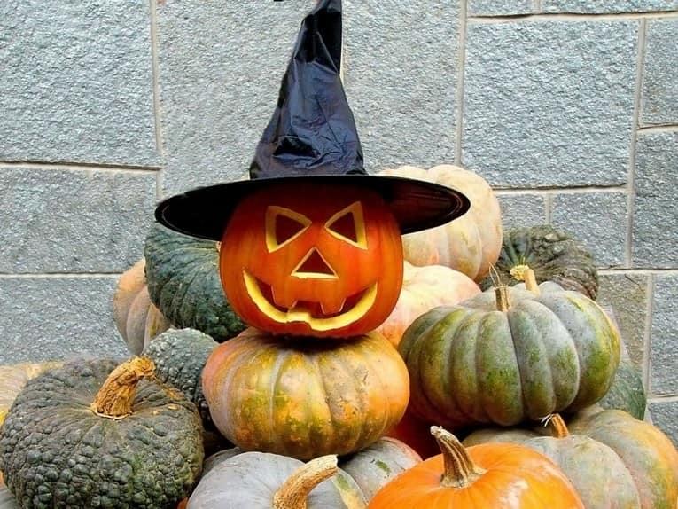 Простой страж дома - ведьмочка из тыквы