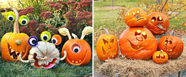 Фигурки из тыквы для Хэллоуина