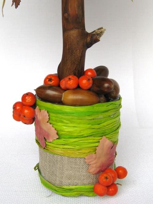 Декорированный горшок для топиория