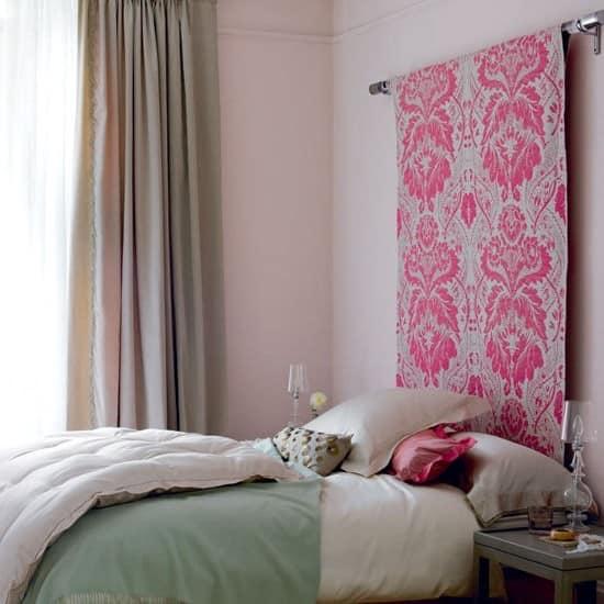 Изголовье кровати из ткани