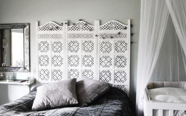 Изголовье кровати в виде ширмы