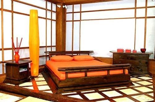 Спальня европейской квартиры в японском стиле