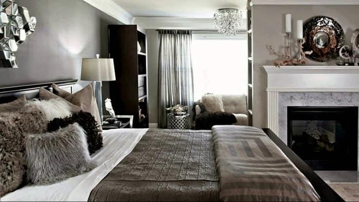 Многослойность в интерьере спальни