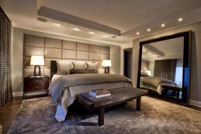 Приглушенное освещение спальни
