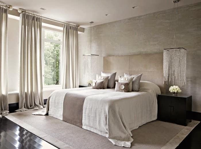 Светлые цвета в интерьере спальни