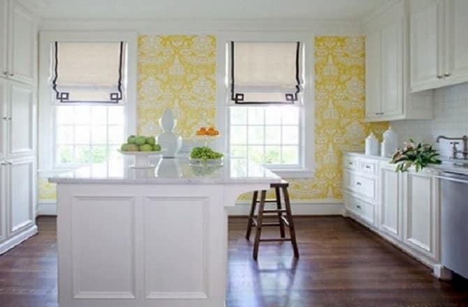 Подходящий цвет обоев для кухни