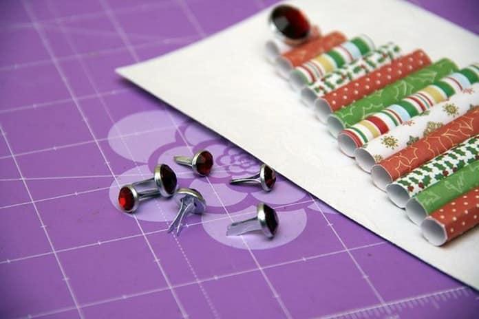 Декор новогодней открытки