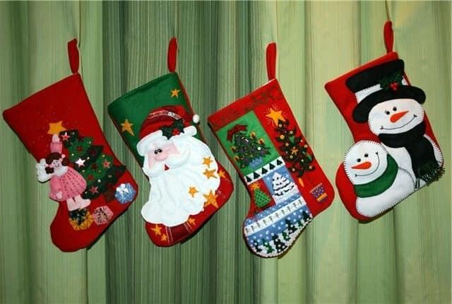 Сапожки для Санта Клауса с аппликацией
