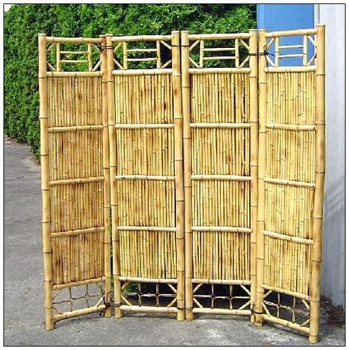 Ширма в восточном стиле из бамбука