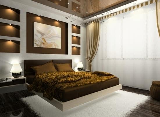 Сочетание золотого и шоколадного цвета в интерьере