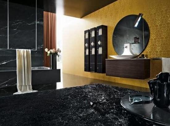 Сочетание золотого и черного цвета в интерьере
