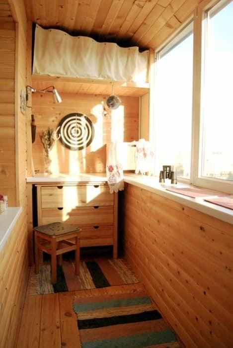 Кухня на балконе в скандинавском стиле