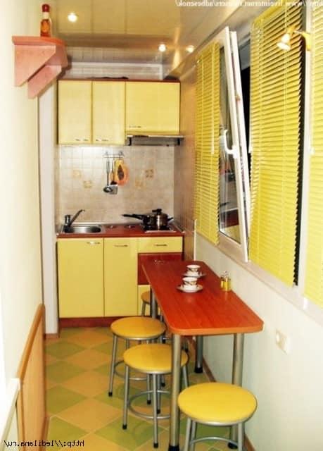 Как сделать кухню в большой комнате