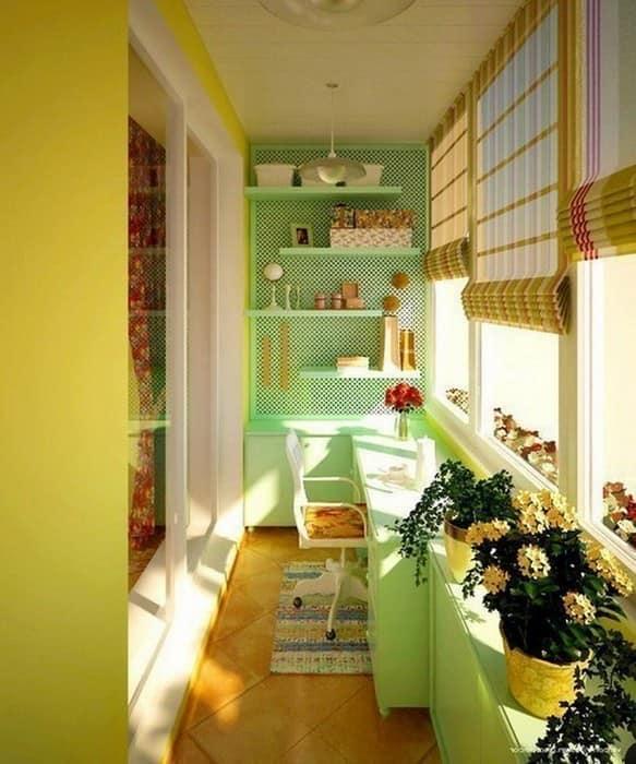Кухня на балконе в стиле модерн