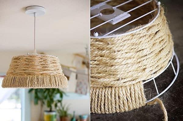 Шнуры и веревки в декоре интерьера - фото