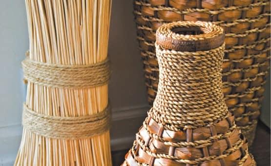 Декор вазы веревками своими руками