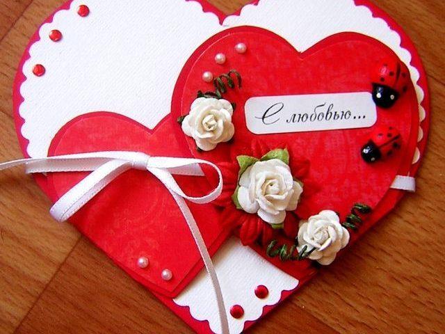 Валентинка - простой подарок в День Святого Валентина