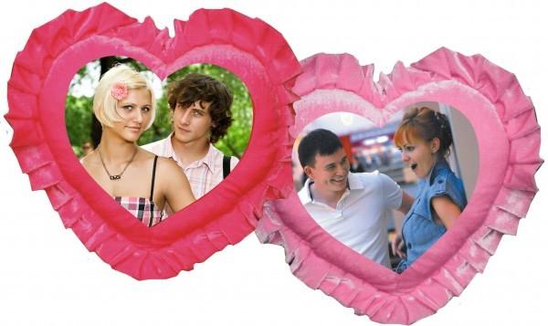Подушка в виде сердца на День Святого Валентина