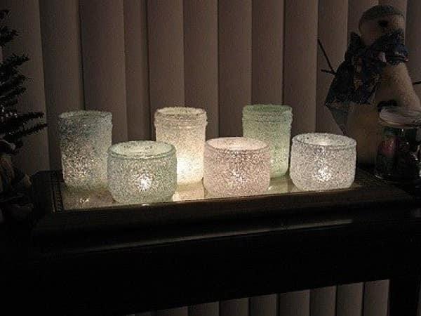 Красивые подсвечники из банок
