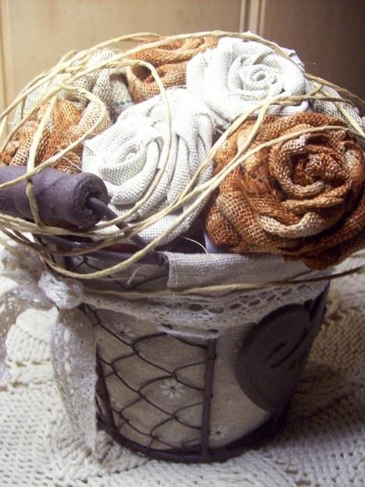 Розы из ткани к 8 марта